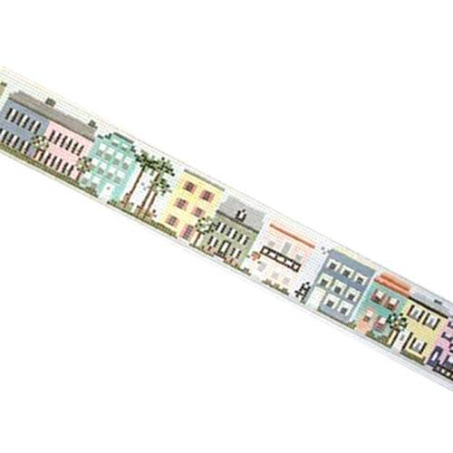 Charleston Rainbow Row Belt Painted Canvas Needle Crossings
