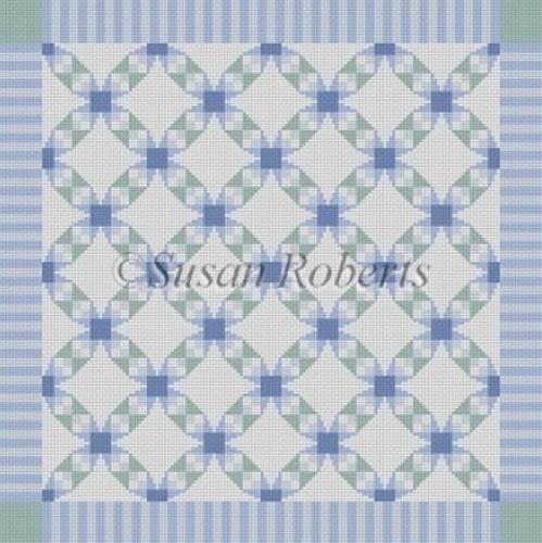 Checker Cathedral Quilt Painted Canvas Susan Roberts Needlepoint Designs, Inc.