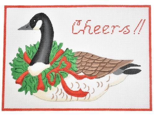 Cheers! (Goose) Painted Canvas Kate Dickerson Needlepoint Collections