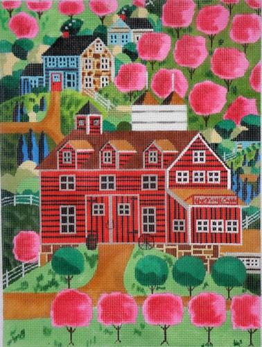 Cherry Bloom Hills Painted Canvas Ewe & Eye