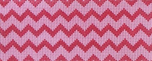 Chevron - Light Pink & Raspberry Painted Canvas Kate Dickerson Needlepoint Collections