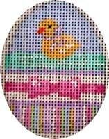 Chick / Bow / Stripes Mini Egg Painted Canvas Associated Talents