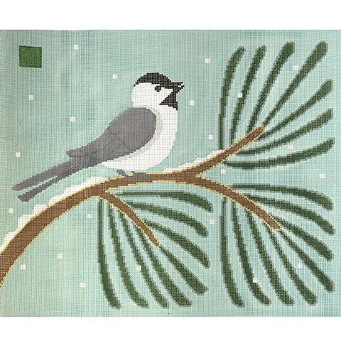 Chickadee Pine Painted Canvas 3K Designs