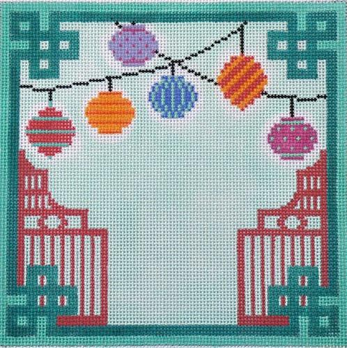 Chinese Paper Lanterns Painted Canvas Kate Dickerson Needlepoint Collections
