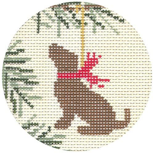Chocolate Lab Painted Canvas CBK Needlepoint Collections