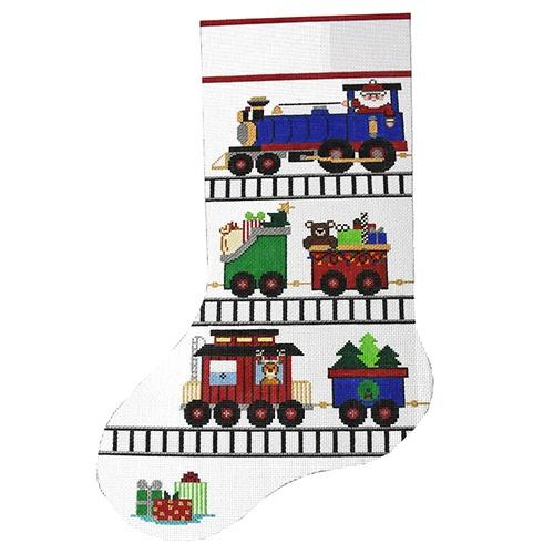 Choo Choo Stocking Painted Canvas The Meredith Collection