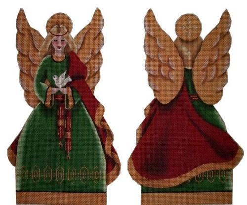 Christmas Angel Topper Painted Canvas Rebecca Wood Designs