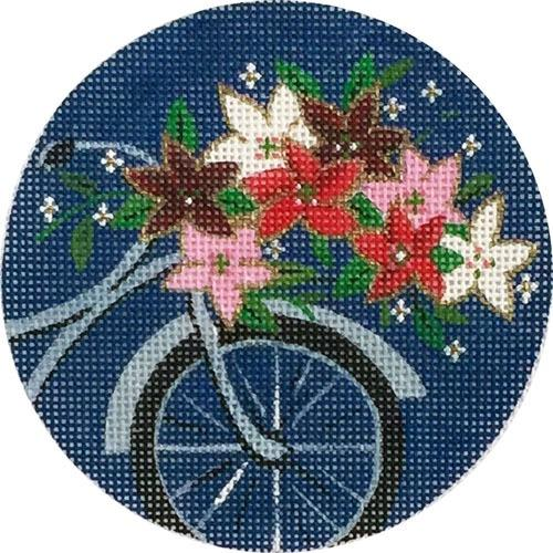 Christmas Bike Ornament Painted Canvas Alice Peterson Company