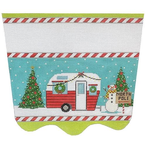 Christmas Camper Stocking Topper Painted Canvas The Meredith Collection