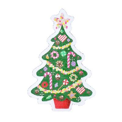 Christmas Candy Tree Painted Canvas Kirk & Bradley