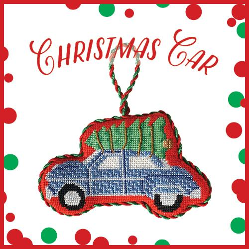 Christmas Car Online Needlepoint Class Online Course Needlepoint.Com