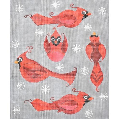 Christmas Cardinals (TAP) Painted Canvas Tapestry Fair