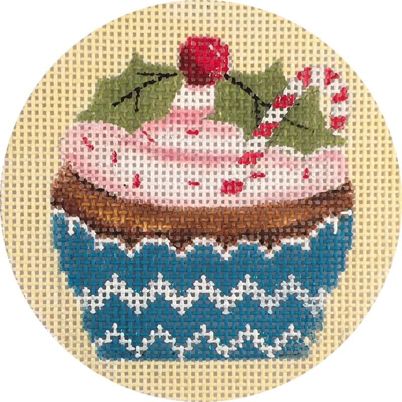 Christmas Cupcake Painted Canvas Alice Peterson