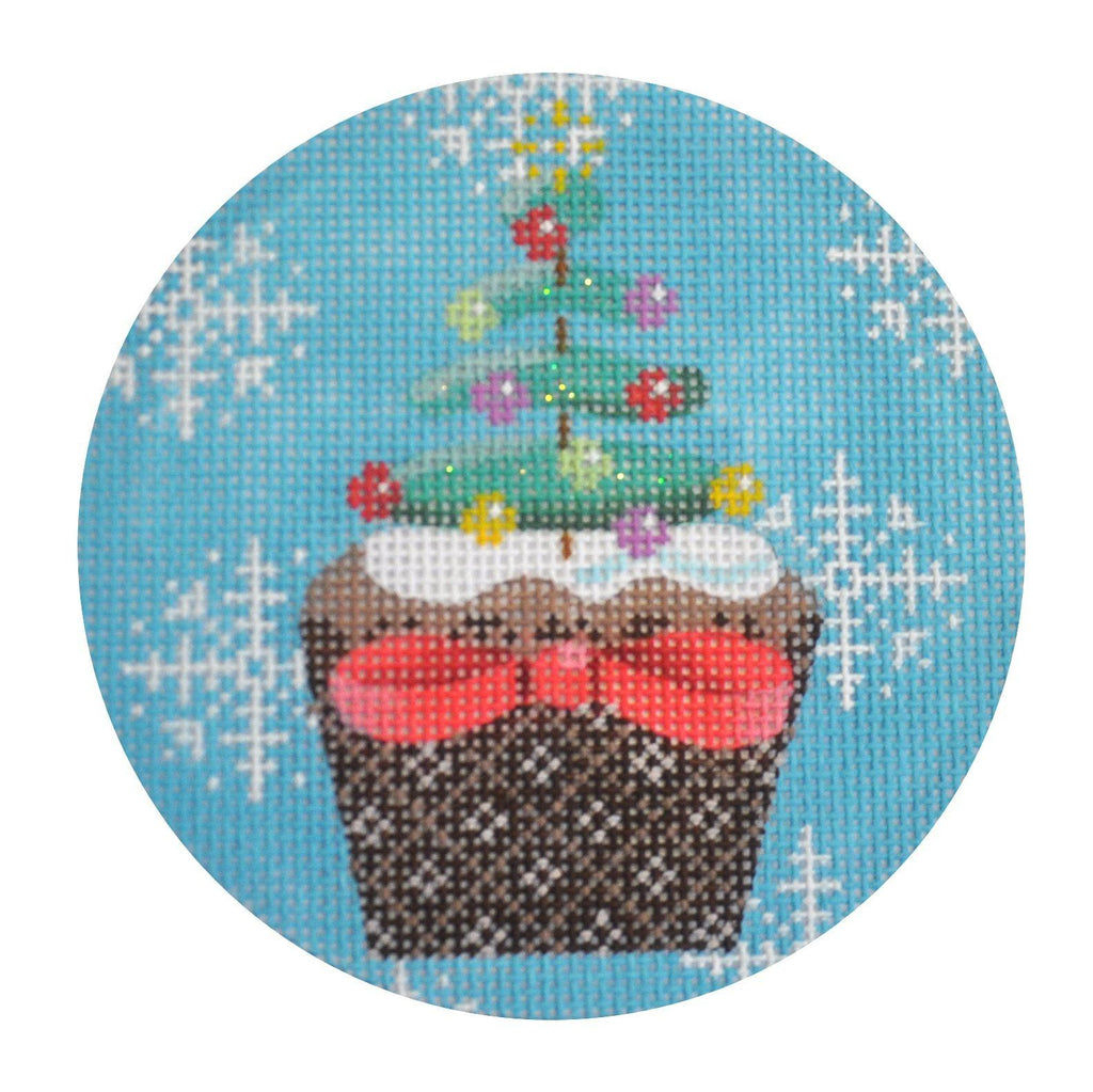 Christmas Cupcake Xmas Tree Painted Canvas Kirk & Bradley