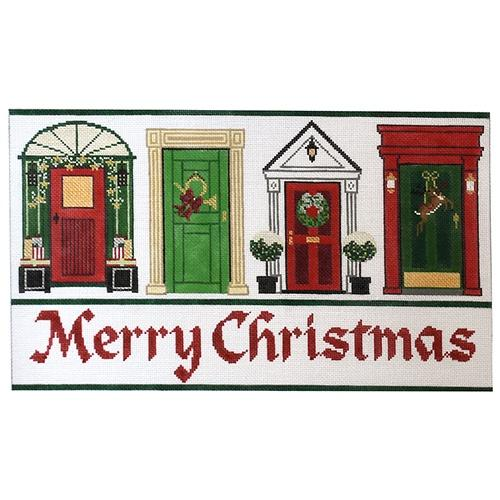 Christmas Doors Painted Canvas The Meredith Collection