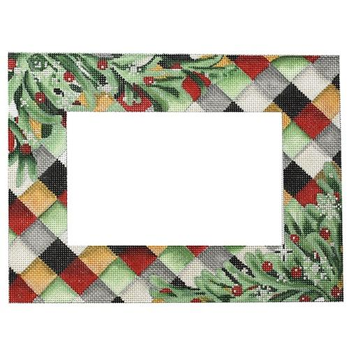 Christmas Greens Frame Painted Canvas Associated Talents