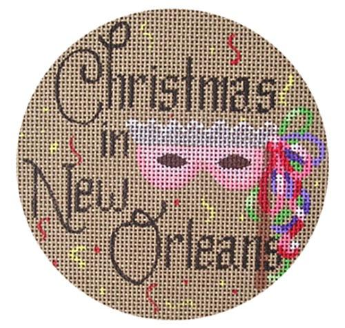 Christmas in New Orleans Painted Canvas Danji Designs