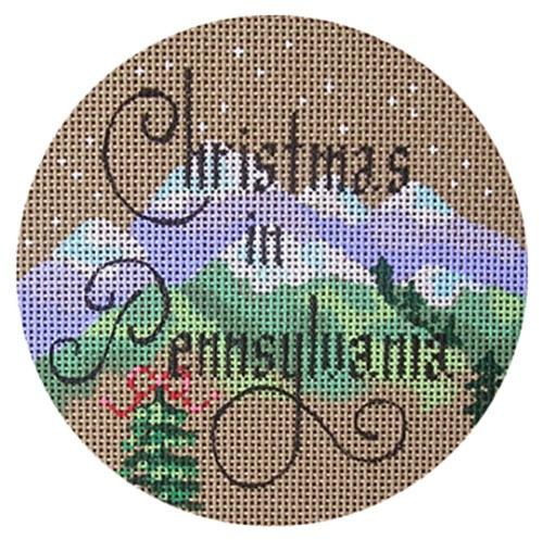 Christmas in Pennsylvania Painted Canvas Danji Designs