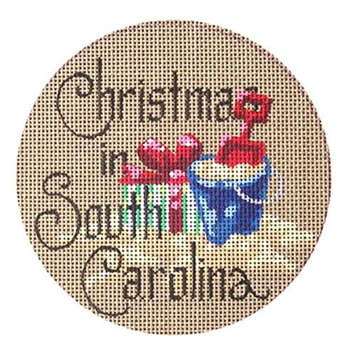 Christmas in South Carolina Painted Canvas Danji Designs