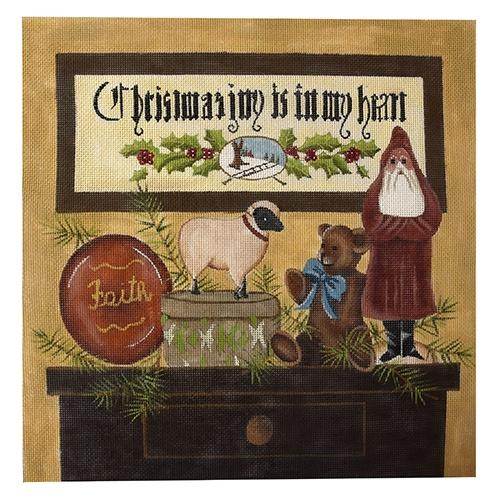 Christmas Joy Painted Canvas PLD Designs