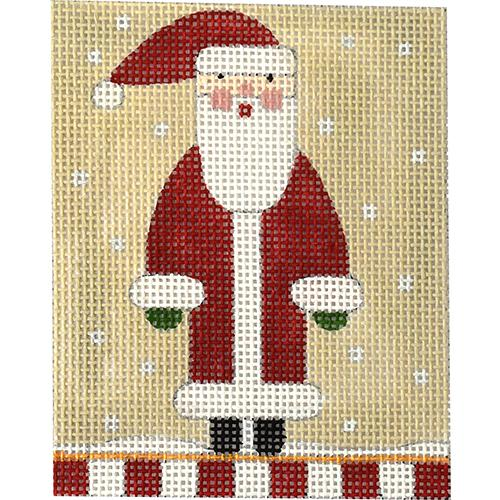 Christmas Ornament - Santa Painted Canvas Melissa Shirley Designs