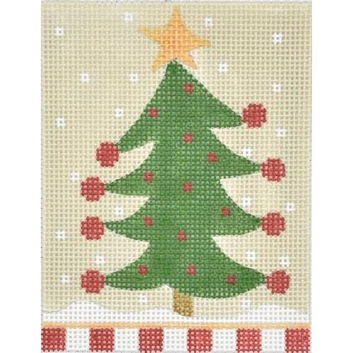 Christmas Ornament - Tree Painted Canvas Melissa Shirley Designs