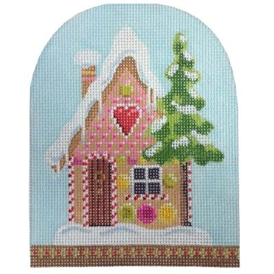 Christmas Snowdome - Gingerbread House Painted Canvas Kirk & Bradley