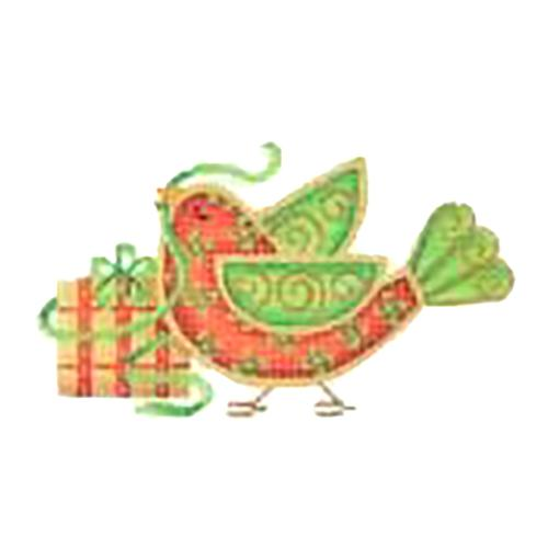 Christmas Sweetie Tweetie - Package Painted Canvas Burnett & Bradley