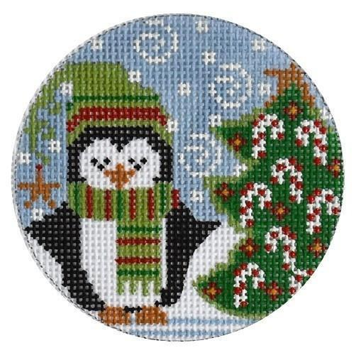 Christmas Tree Penguin on 13 Painted Canvas Danji Designs