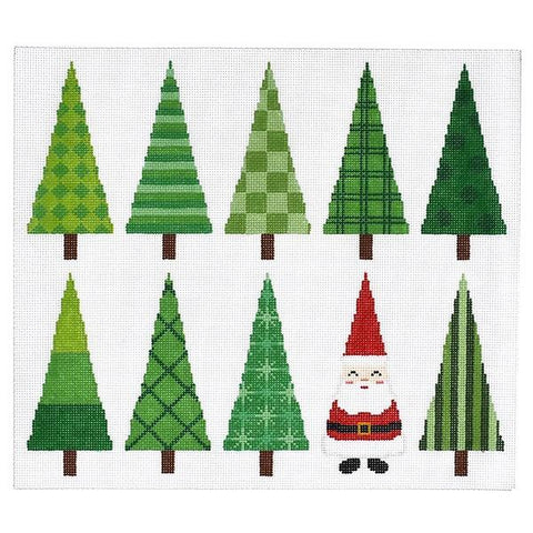 Christmas Trees Pillow Painted Canvas A Stitch in Time