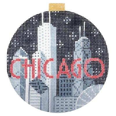 City Bauble - Chicago Painted Canvas Kirk & Bradley