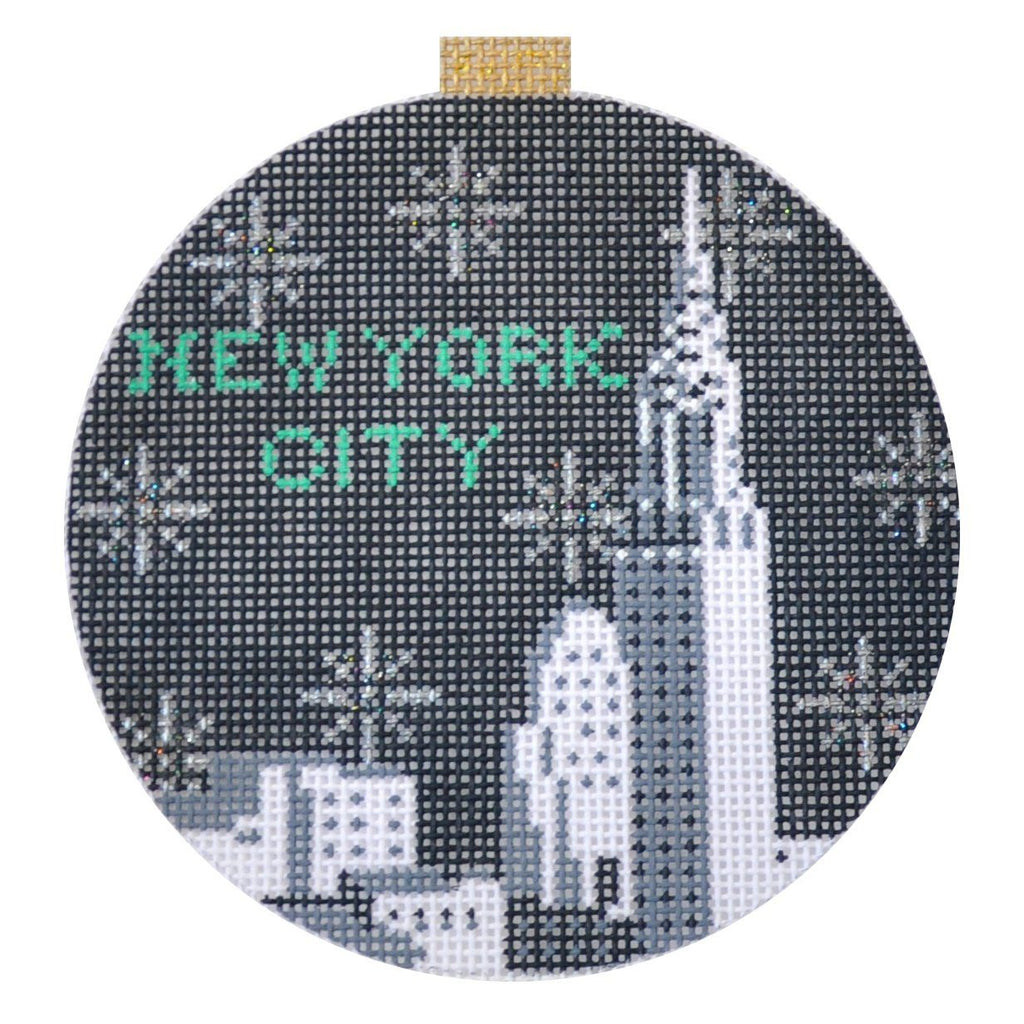 City Bauble - NYC Skyline Painted Canvas Kirk & Bradley