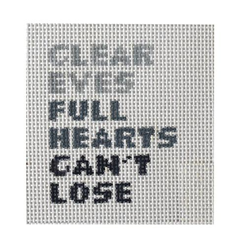 Clear Eyes Full Hearts Can't Lose Painted Canvas Bad Bitch Needlepoint
