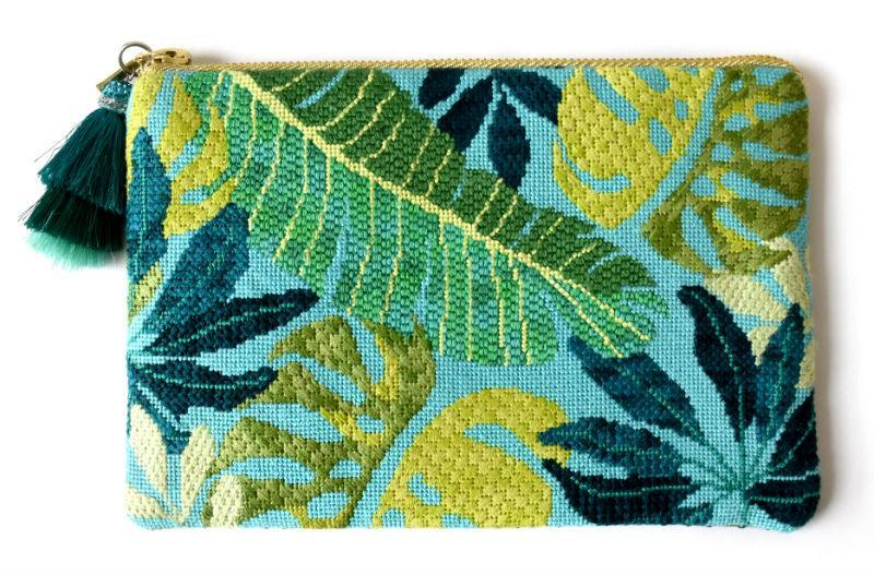Clutch Fun Needlepoint Kit - Blue Kits Needlepoint.Com