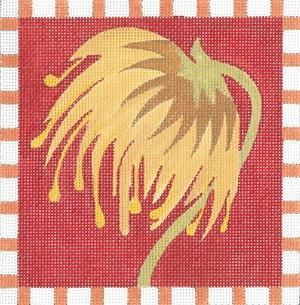 Coaster Rust Painted Canvas Fleur de Paris