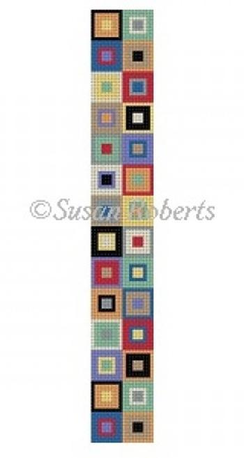 Color boxes key fob and hardware Painted Canvas Susan Roberts Needlepoint Designs, Inc.