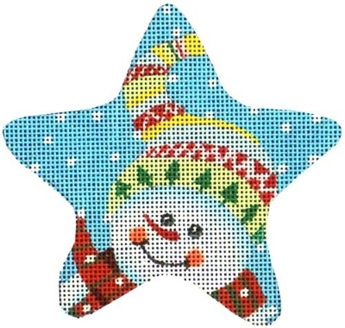 Colorful Hat Snowman Painted Canvas Maggie Co.