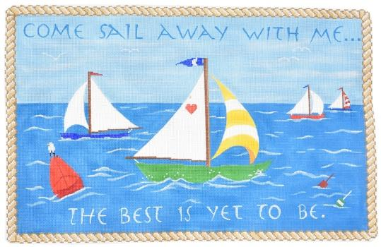 Come Sail with Me... Painted Canvas Kate Dickerson Needlepoint Collections