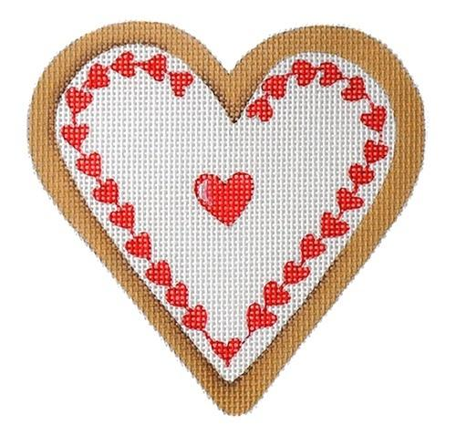 Cookie Hearts - Red Heart Painted Canvas Mary Lake Thompson