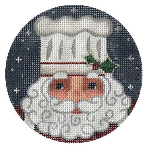 Cookie Santa Ornament Painted Canvas Melissa Shirley Designs