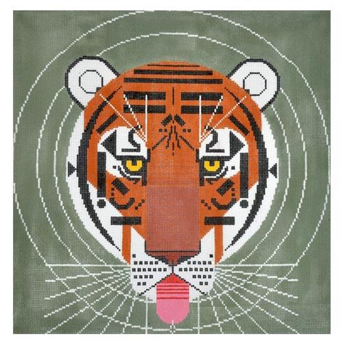 Cool Carnivore on 13 Painted Canvas Charley Harper
