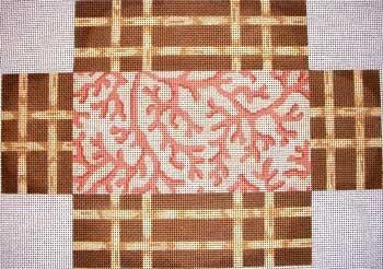 Coral Lattice Brick Cover Painted Canvas Associated Talents