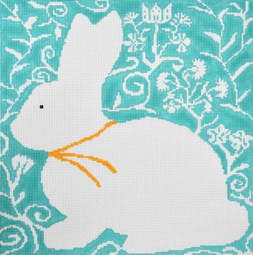 Cottontail - Aqua Painted Canvas Birds of a Feather