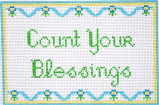 Count Your Blessings Painted Canvas All About Stitching/The Collection Design