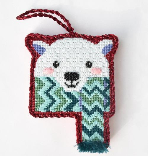 Cozy Critters - Polar Bear Online Course Needlepoint.Com