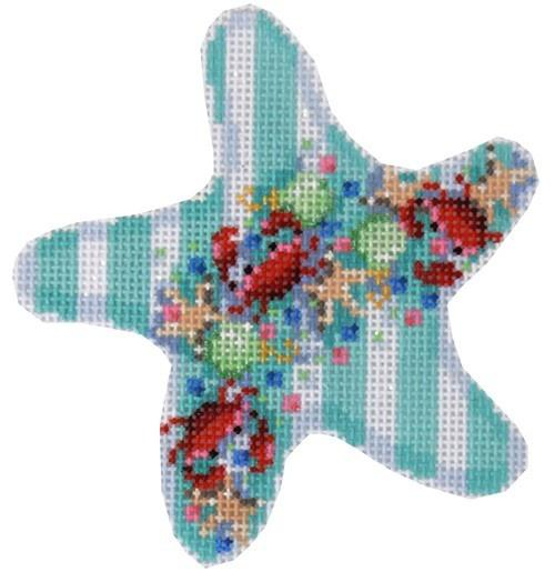 Crab Confetti Starfish Ornament Painted Canvas Associated Talents