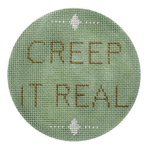 Creep It Real Painted Canvas Pewter & Pine
