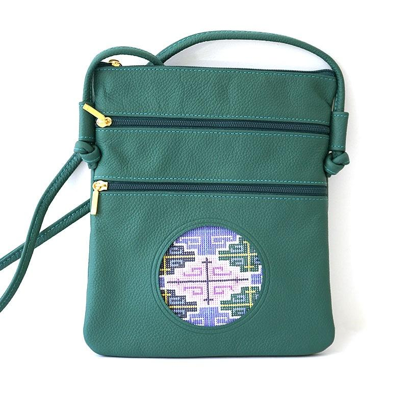Cross Body Purse - Green Leather Goods Lee's Leather Goods