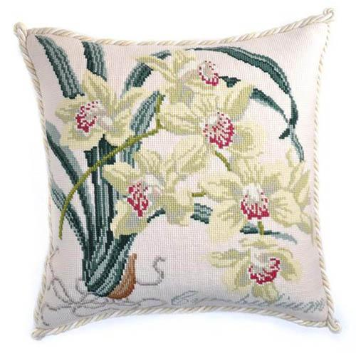 Cymbidium (Boat Orchid) Needlepoint Kit Kits Elizabeth Bradley Design