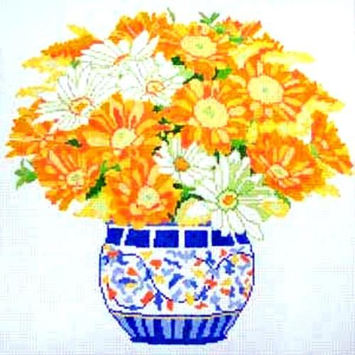 Daisy Bouquet Painted Canvas Jean Smith